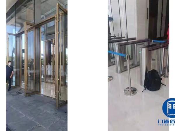 大厦进出口超高地弹门维修与内部速通门巡检
