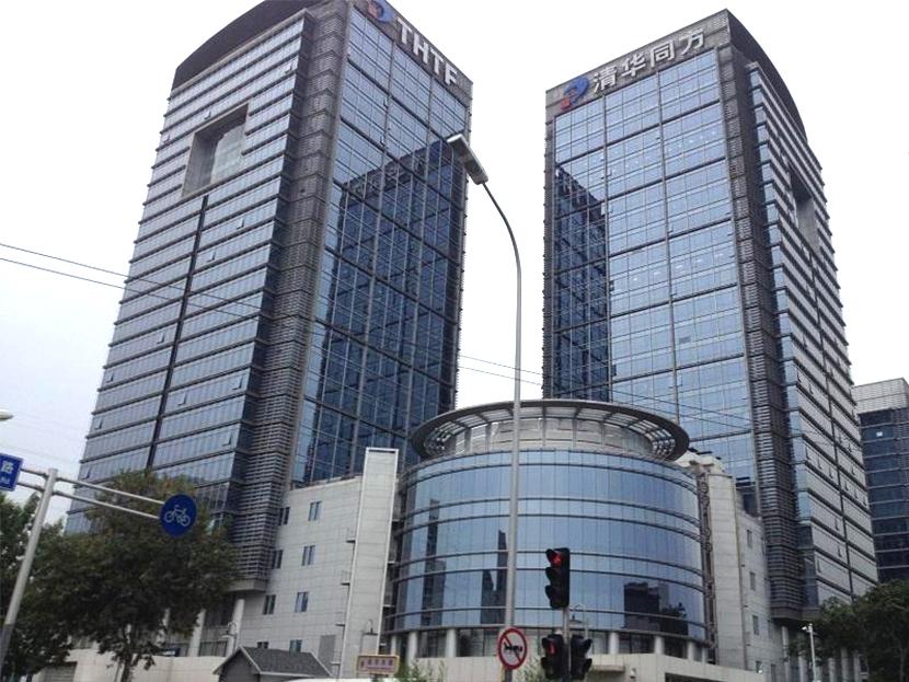 北京海淀清华同方科技广场地弹门维修服务案例