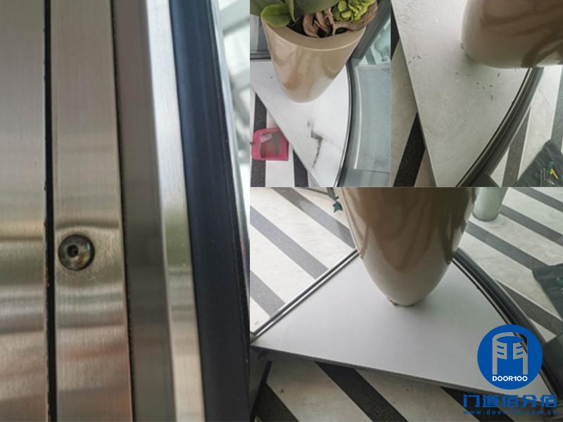 北京高楼大厦电动旋转门定期保养与配件维修更换服务之展示窗锁更换维修