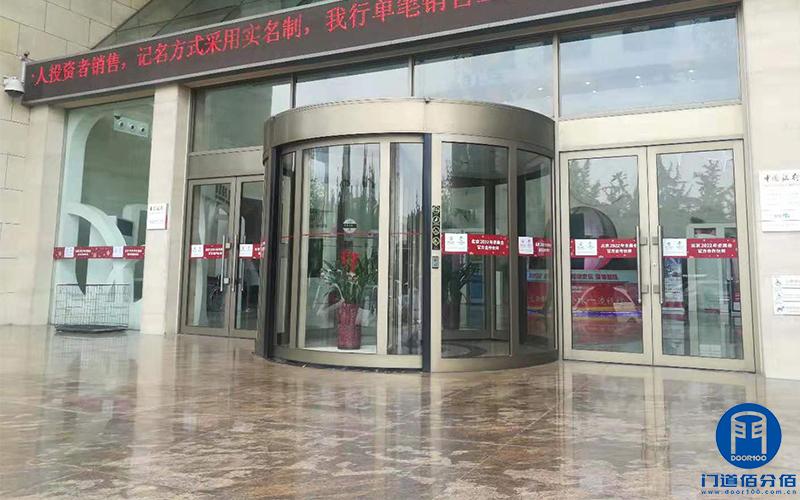 保定中国银行凯必盛自动旋转门维修升级翻轨服务