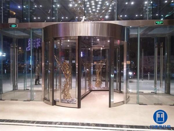 福州旋转门维修之福州某洲际酒店两翼旋转门维修服务案例