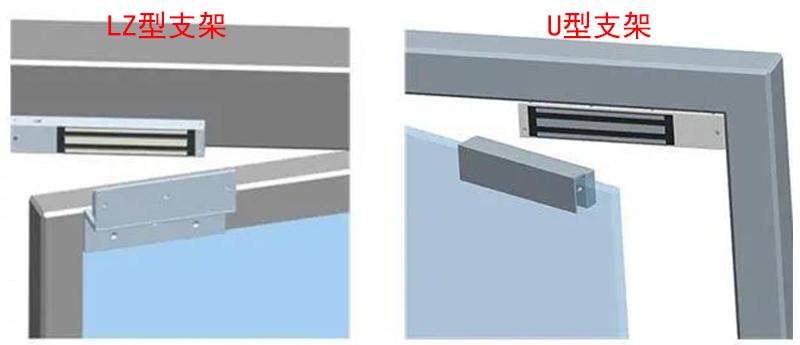 磁力锁支架安装示例