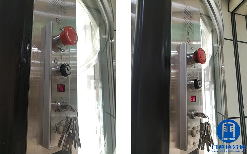北京海淀某大厦正门两翼旋转门保养美化清洁服务案例