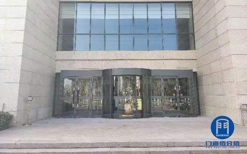 中石化北京会议中心自动旋转门门区地面改造服务