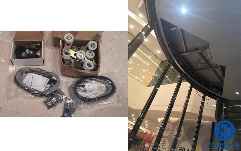 昆明某大厦智汇门道品牌自动弧形门、自动平滑门配件更换维修之配件准备