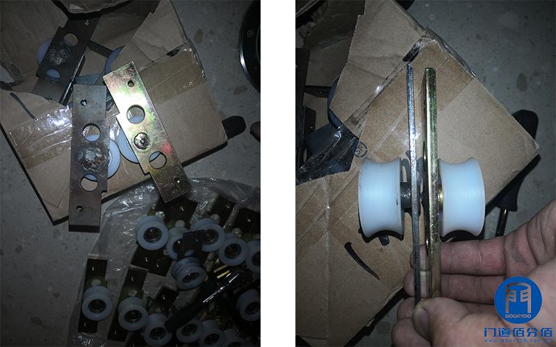 昆明某大厦智汇门道品牌自动弧形门、自动平滑门配件更换维修之配件对比