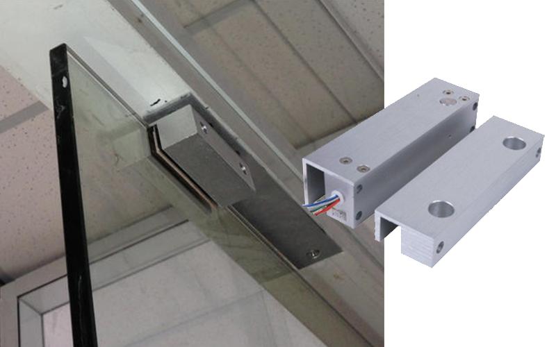 无框玻璃门电插锁安装