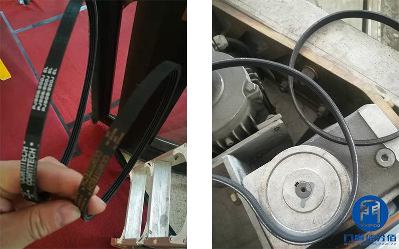 写字楼出入口电动旋转门皮带维修与钥匙更换
