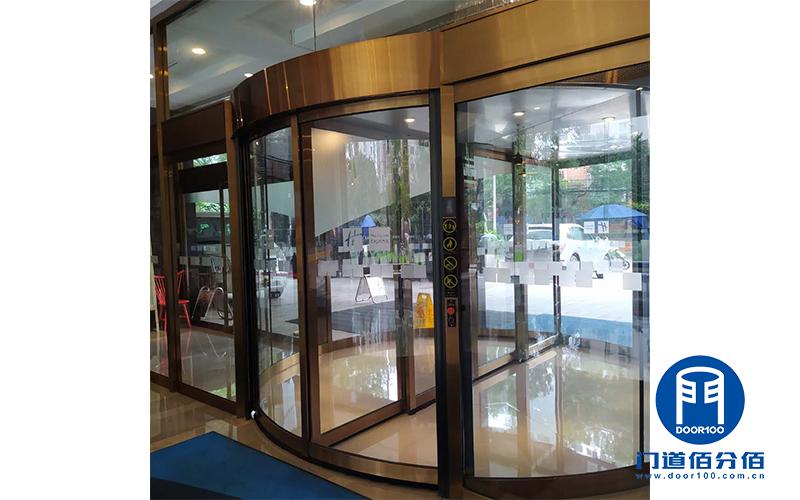 门道佰分佰服务案例:酒店入口门区旋转门与地弹门保养项目