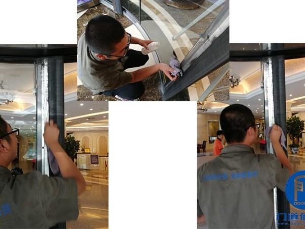 宝盾旋转门保养项目北京某大厦自动旋转门大保养服务案例
