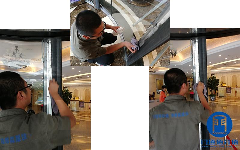 北京海淀区某大厦宝盾自动旋转门大保养服务