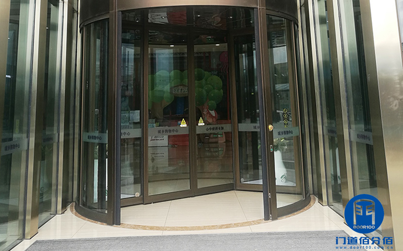 北京大兴购物广场自动旋转门档位调节功能维修服务