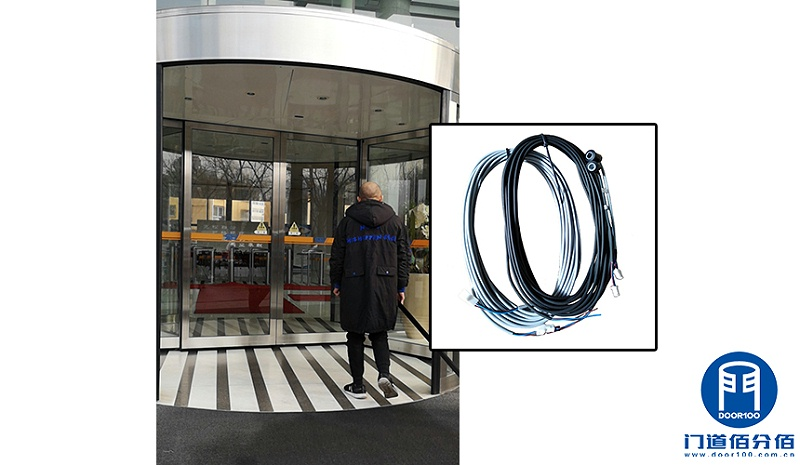 企业大楼自动旋转门防夹对射电子眼维修更换服务案例