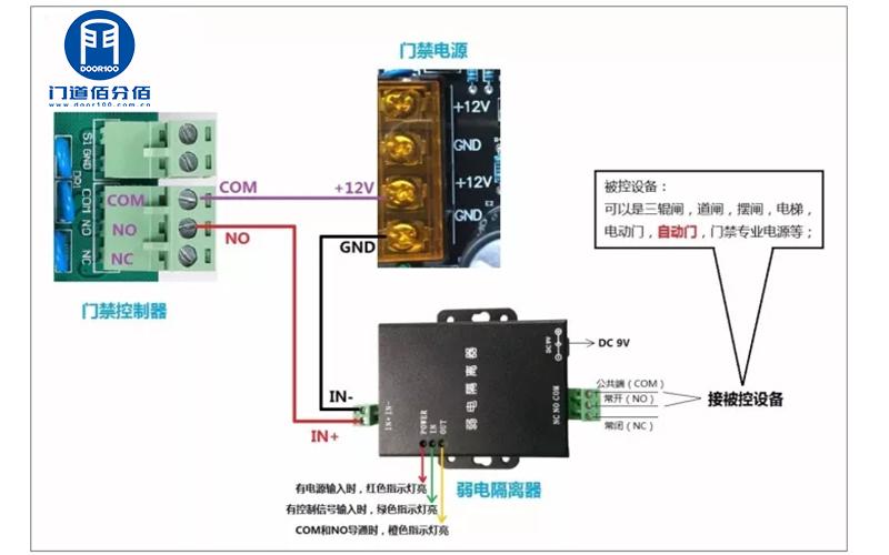弱电隔离器实物接线图