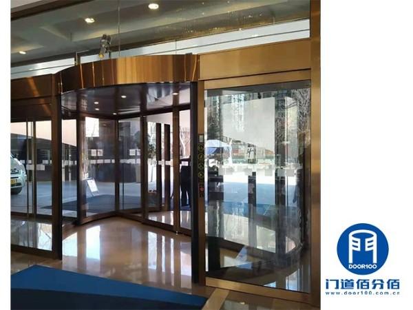 酒店入口门区旋转门与地弹门保养项目