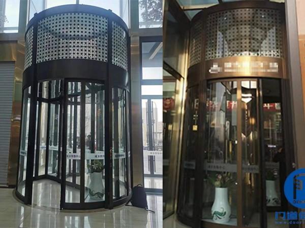 凯必盛售后维修案例之购物广场旋转门钥匙维修