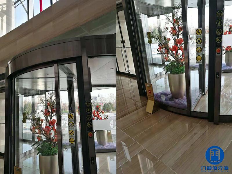 北京某酒店宝盾自动两翼旋转门被动轮维修服务