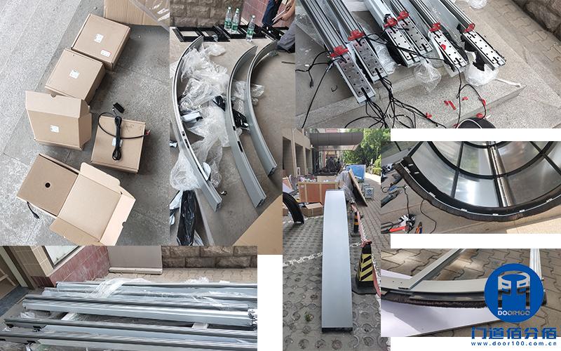 中国建材集团旗下大厦两翼自动环柱旋转门工程案例
