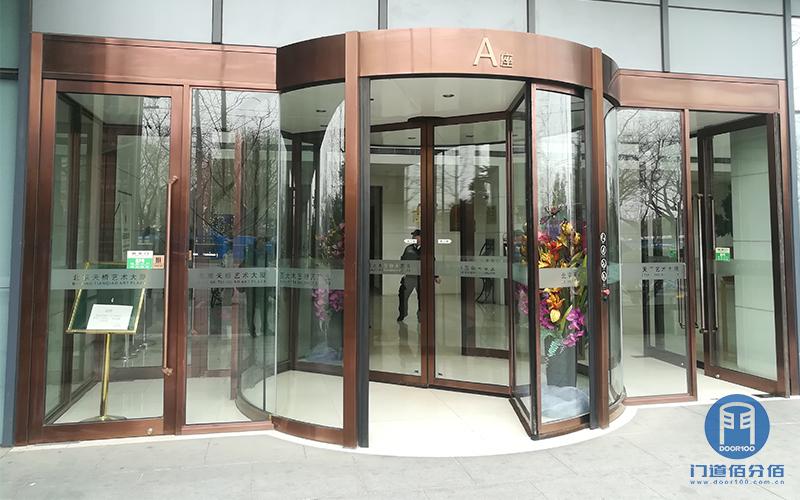 北京某大厦圣维两翼自动旋转门保养检测服务
