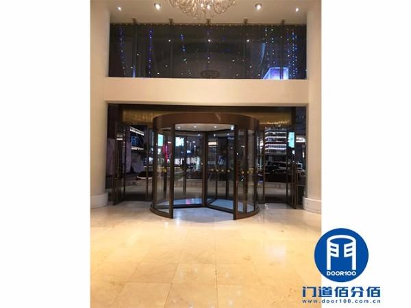 自动旋转门电机更换维修宁波某酒店两翼旋转门维修服务案例