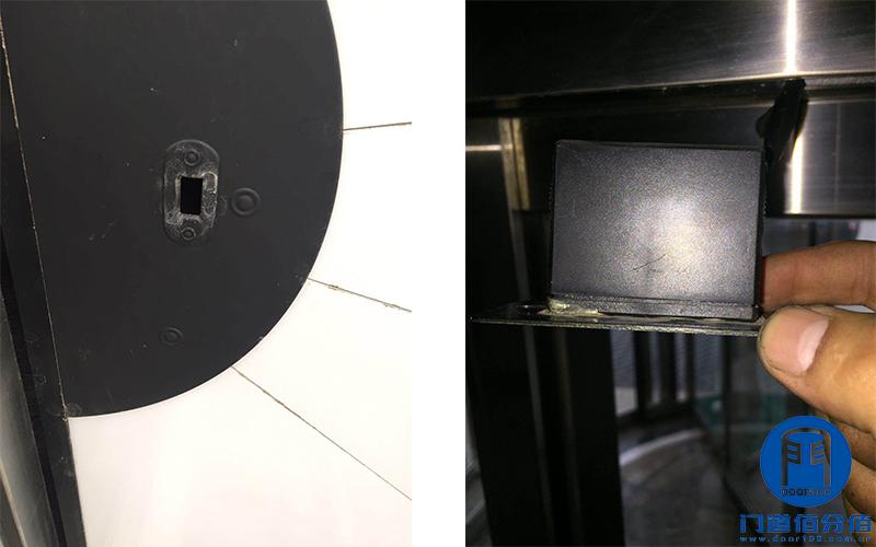 盼盼自动旋转门防夹防撞传感器故障检测