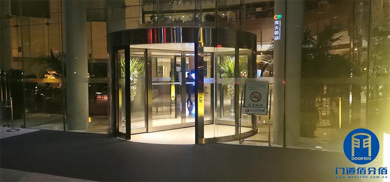 旋转门售后服务案例酒店电动转门保养服务