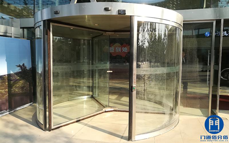 北京软件园卡巴自动三翼旋转门保养服务案例