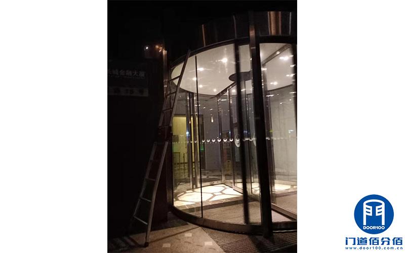 上海黄浦区某酒店两翼自动旋转门维护保养服务